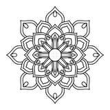 Round Indiański Ornament/mandala element dekoracyjny Obrazy Royalty Free