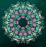 Round Indian color pattern Royalty Free Stock Image