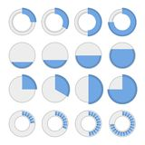 Round Infographic Elements and Pie Charts Set. Stock Photo