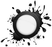 Round inkblot icon Stock Photo