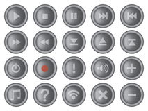 Round Interface Buttons Design Set Vector Illustration Royalty Free Stock Images