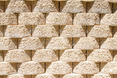 Round Interlocking Block Wall Royalty Free Stock Image
