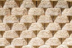 Round Interlocking Block Wall royalty free stock image