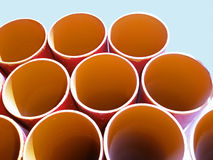 Round iron pipes Royalty Free Stock Photography