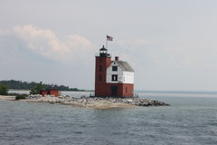 Round Island Lighthouse Royalty Free Stock Images