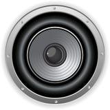 Round Isolated Sound Speaker Stock Image