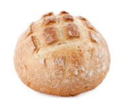 Round italian bread on white Stock Image