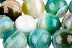 Round Jasper beads Royalty Free Stock Photo