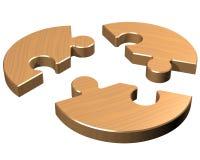 Round jigsaw Stock Image