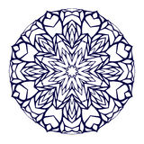 Round kaleidoscopic lace mandala background Stock Photography