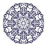 Round kaleidoscopic lace mandala background Stock Photography