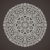 Round kaleidoscopic lace ornamental background Royalty Free Stock Photo