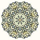 Round kaleidoscopic lace ornamental background Stock Photo