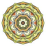 Round kaleidoscopic ornamental background Stock Image