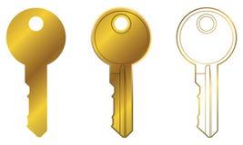 Round Kierowniczy błonie domu klucza Wektorowej grafiki set royalty ilustracja