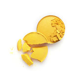Round kolor żółty rozbijający eyeshadow dla uzupełniał jak próbka kosmetyczny produkt Obrazy Royalty Free