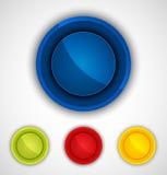 Round kolorowe ikony ustawiać. Zdjęcia Stock