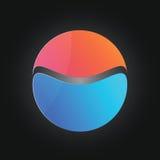 Round kolorowi kształty logo lub ikona Zdjęcia Stock