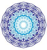 Round koronkowy ornament na bielu Obraz Stock