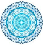 Round koronkowy ornament odizolowywający na bielu royalty ilustracja