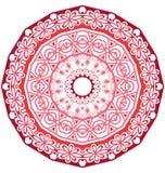 Round koronkowy ornament odizolowywający na bielu Obraz Royalty Free