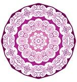 Round koronkowy ornament odizolowywający na bielu Fotografia Stock