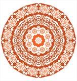 Round koronkowy ornament odizolowywający na bielu Zdjęcia Royalty Free