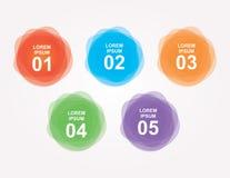 Round kroków sztandary dla strony internetowej Obraz Stock