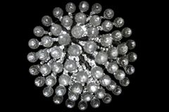 Round Krystaliczny Bokeh wzór Odizolowywający Na czerni Zdjęcie Royalty Free