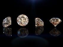 Round kształta gemstone kolekcj klejnotów biżuterii markiz Zdjęcia Stock