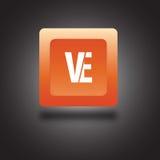 Round kwadratowa kolorowa ikona lub logo Obraz Stock