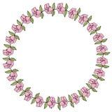 Round kwiat rama Obraz Stock