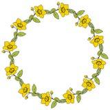 Round kwiat rama Zdjęcie Stock