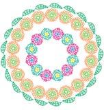 Round kwiatu ornament ilustracja wektor