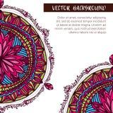 Round kwiatu ornament Dekoracyjny rocznika druk Luksusowy kwiecisty wyplata wzór Fotografia Stock