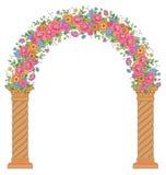 Round kwiecisty archway Zdjęcie Royalty Free