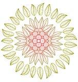Round kwiecisty ornament ilustracja wektor
