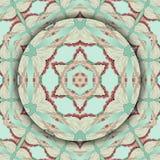Round kwiecisty ornament E royalty ilustracja