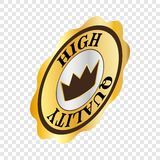 Round label high quality isometric icon Stock Photo