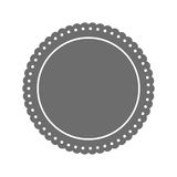 Round label insignia Stock Image