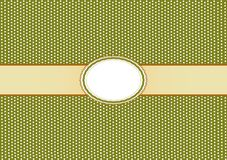 Round Label Pattern with A Olive Green Background Stock Images
