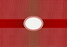 Round Label Pattern with A Red Background Stock Images