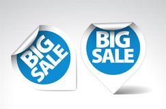 Round Labels / stickers for big sale Royalty Free Stock Photos