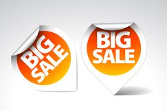 Round Labels / stickers for big sale Royalty Free Stock Photography