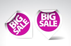 Round Labels / stickers for big sale Stock Photo