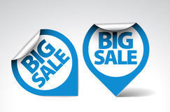 Round Labels / stickers for big sale Royalty Free Stock Images
