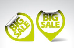 Round Labels / stickers for big sale Royalty Free Stock Photo