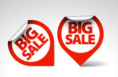 Round Labels / stickers for big sale Stock Image