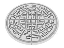 Round labirinth Stock Images