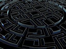 Round labyrinth Royalty Free Stock Photo